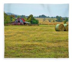 Barn And Field Fleece Blanket