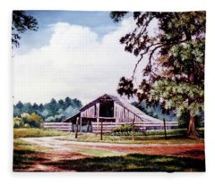 Barn At Honey Island Fleece Blanket