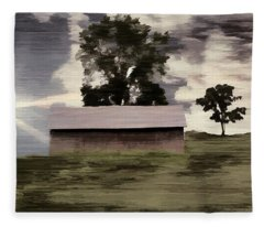 Barn II A Digital Painting Fleece Blanket