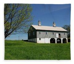 Barn In The Country - Bayonet Farm Fleece Blanket