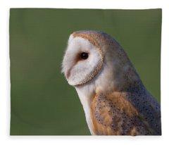 Barn Owl Profile Fleece Blanket