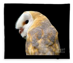 Barn Owl Fleece Blanket