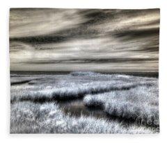 Barnegat Bay New Jersey Fleece Blanket