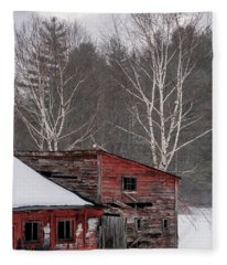 Barns And Birches Fleece Blanket