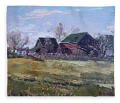 Barns In Niagara County Fleece Blanket