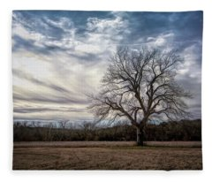 Baron Tree Of Winter Fleece Blanket