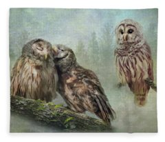 Barred Owls - Steal A Kiss Fleece Blanket