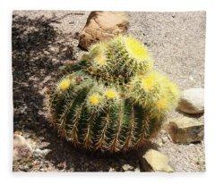 Barrel Of Cactus Needles Fleece Blanket
