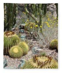 Barrels And Barrels Of Cactus Fleece Blanket