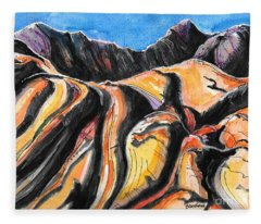 Barren Hills Fleece Blanket