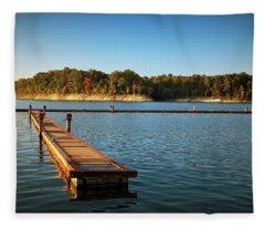 Barren River Lake Dock Fleece Blanket