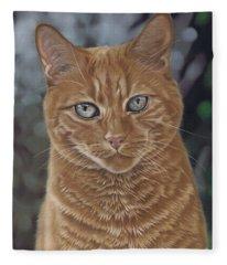 Barry The Cat Fleece Blanket