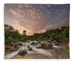 Fleece Blanket featuring the photograph Barton Creek Greenbelt At Sunset by Todd Aaron