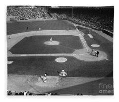 Baseball Game, 1967 Fleece Blanket
