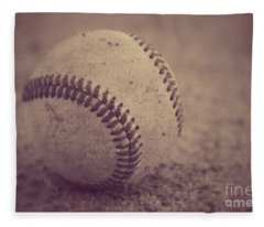 Baseball In Sepia Fleece Blanket