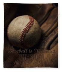 Baseball Yogi Berra Quote Fleece Blanket