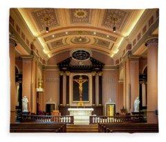 Basilica Of Saint Louis, King Of France Fleece Blanket