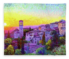 Basilica Of St. Francis Of Assisi Fleece Blanket