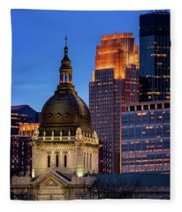 Basilica Of St Mary Fleece Blanket