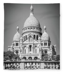 Basilica Of The Sacred Heart In Montmartre Fleece Blanket
