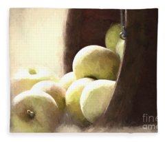Basket Of Apples Fleece Blanket