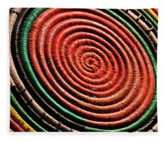 Basketry Color Fleece Blanket