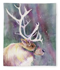Basking In The Lights Fleece Blanket