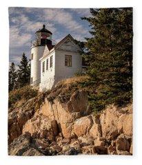 Bass Harbor Lighthouse Fleece Blanket