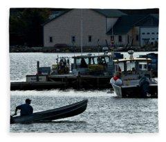 Bass Harbor Lobsterman Skif Fleece Blanket