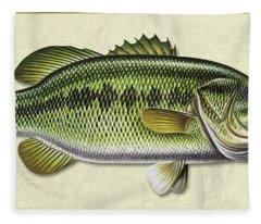 Bass Id Fleece Blanket