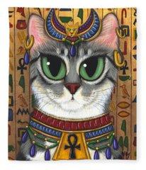 Bast Goddess - Egyptian Bastet Fleece Blanket