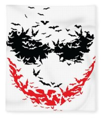 Bat Face Fleece Blanket
