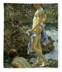 Bathing Group Of 1914 Fleece Blanket