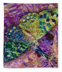 Batik Butterfly Fleece Blanket
