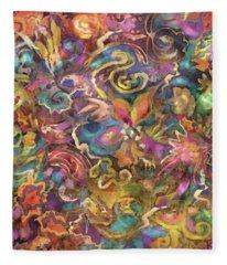 Batik Colorburst Fleece Blanket