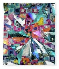 Batik Overlay Fleece Blanket