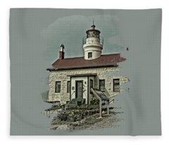 Battery Point Lighthouse Fleece Blanket