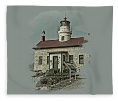 Battery Point Lighthouse Fleece Blanket