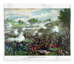 Battle Of Bull Run Fleece Blanket