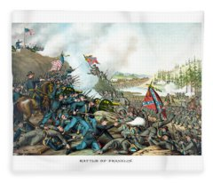 Battle Of Franklin - Civil War Fleece Blanket