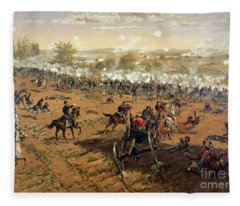 Battle Of Gettysburg Fleece Blanket