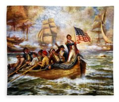 Battle Of Lake Erie - Remastered Fleece Blanket