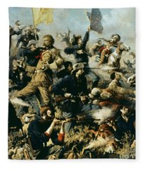 Battle Of Little Bighorn Fleece Blanket