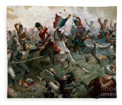 Battle Of Waterloo Fleece Blanket