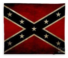 Battle Scarred Confederate Flag Fleece Blanket