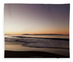 Bay At Sunrise Fleece Blanket