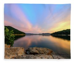 Bay Light Fleece Blanket