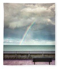 Bay Of Rainbows Fleece Blanket