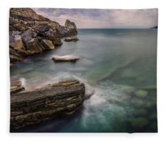 Bay Of The Gulf Of Poets Fleece Blanket