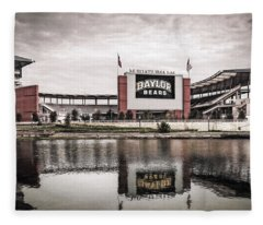 Football Stadium Sketch Fleece Blanket